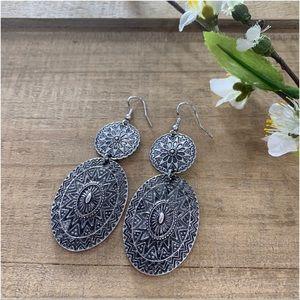 Bohemian mandala earrings
